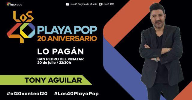 San Pedro del Pinatar acoge el jueves 20 de julio el aniversario de este concierto presentado por Tony Aguilar