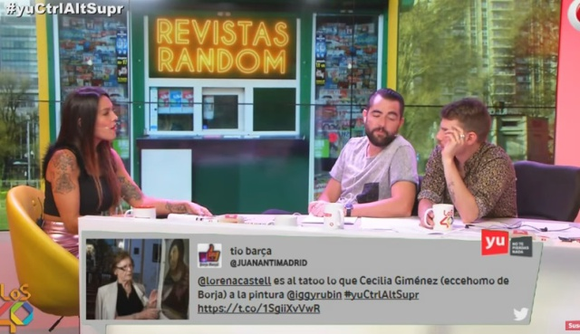 Juan, Damián y Marron. Cheeto. Lorena Castell.