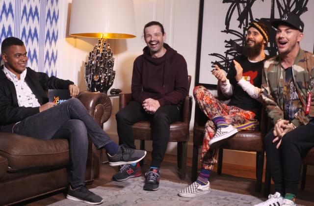 Arturo Paniagua charló con el trío horas antes de su paso por LOS40 Music Awards