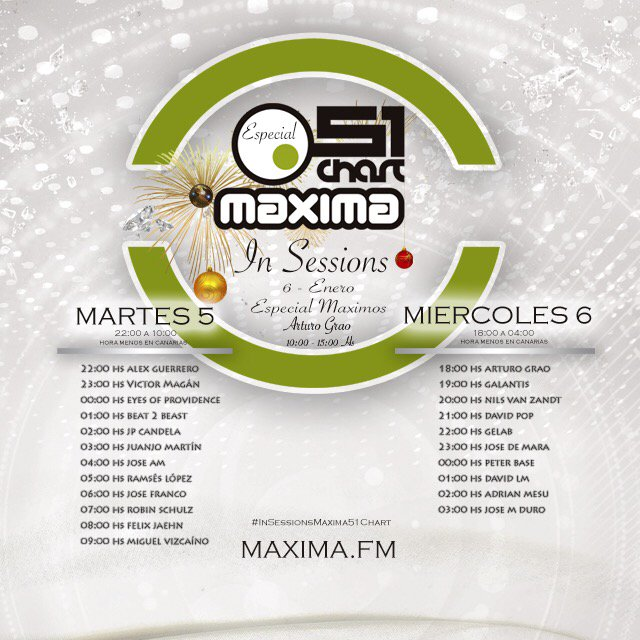 Maxima 51 Chart: Especial Maximos & In Sessions