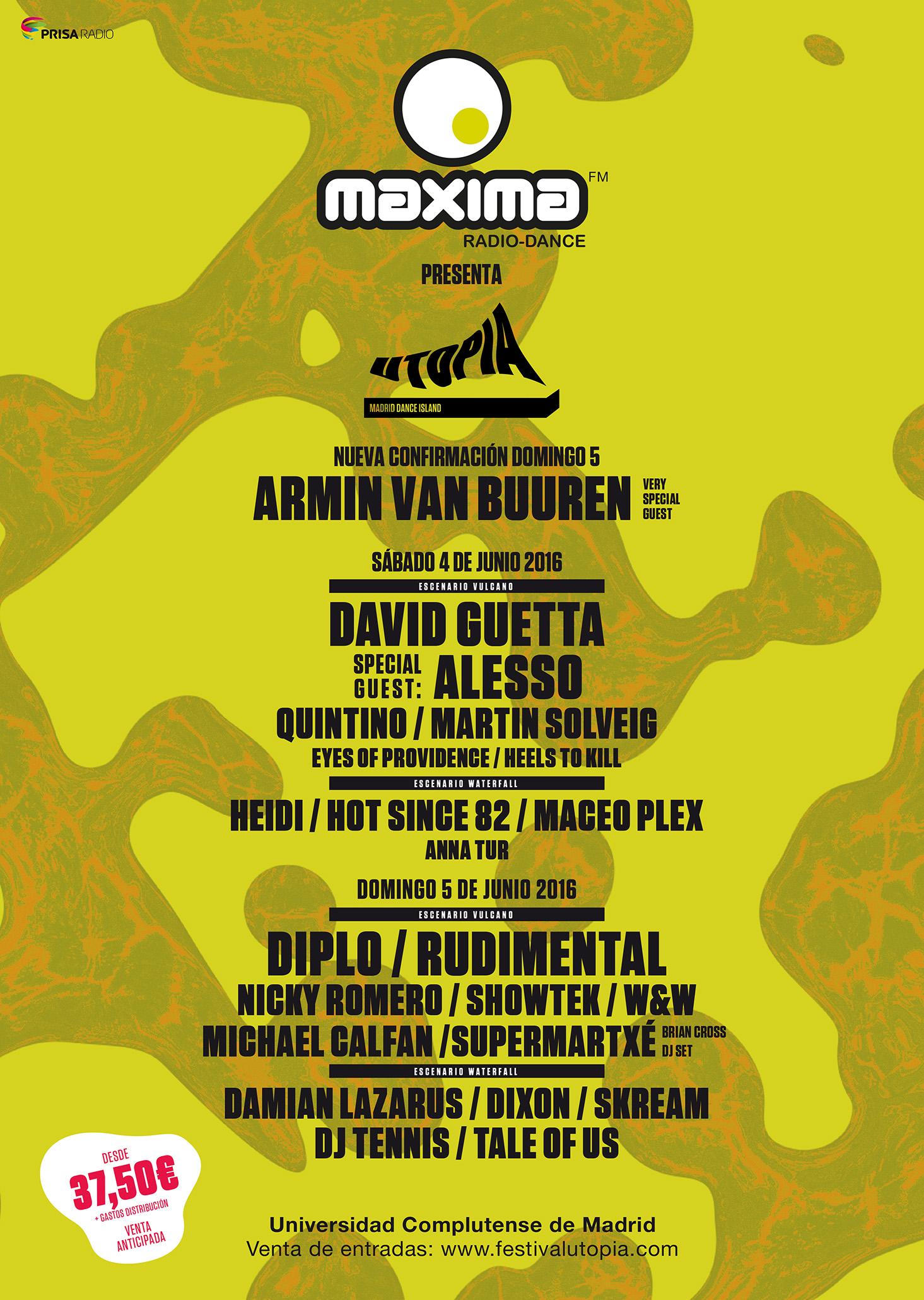 Los DJS de MaximaFM pincharán junto a Armin van Buuren o David Guetta