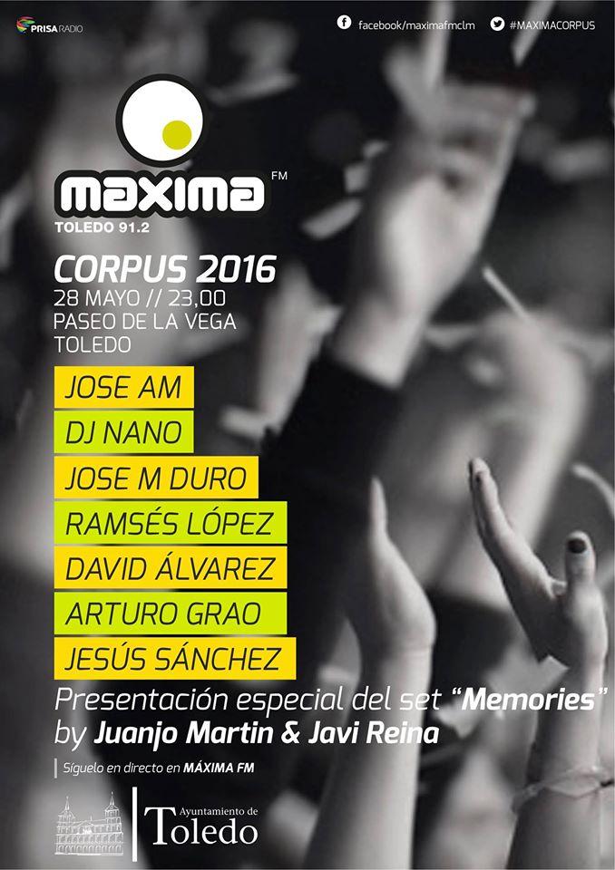 El sábado celebraremos Máxima Corpus 2016 en Toledo