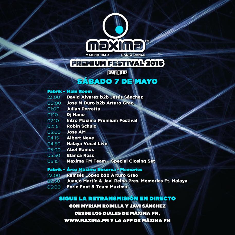 Estos son los horarios de los DJS en Maxima Premium Festival