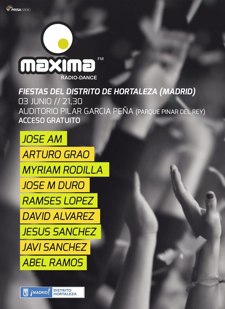 El viernes tenemos fiesta gratuita de MaximaFM en Madrid