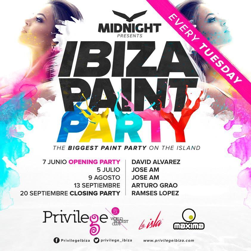 Ibiza Paint Party contará con las sesiones de los DJS de MaximaFM