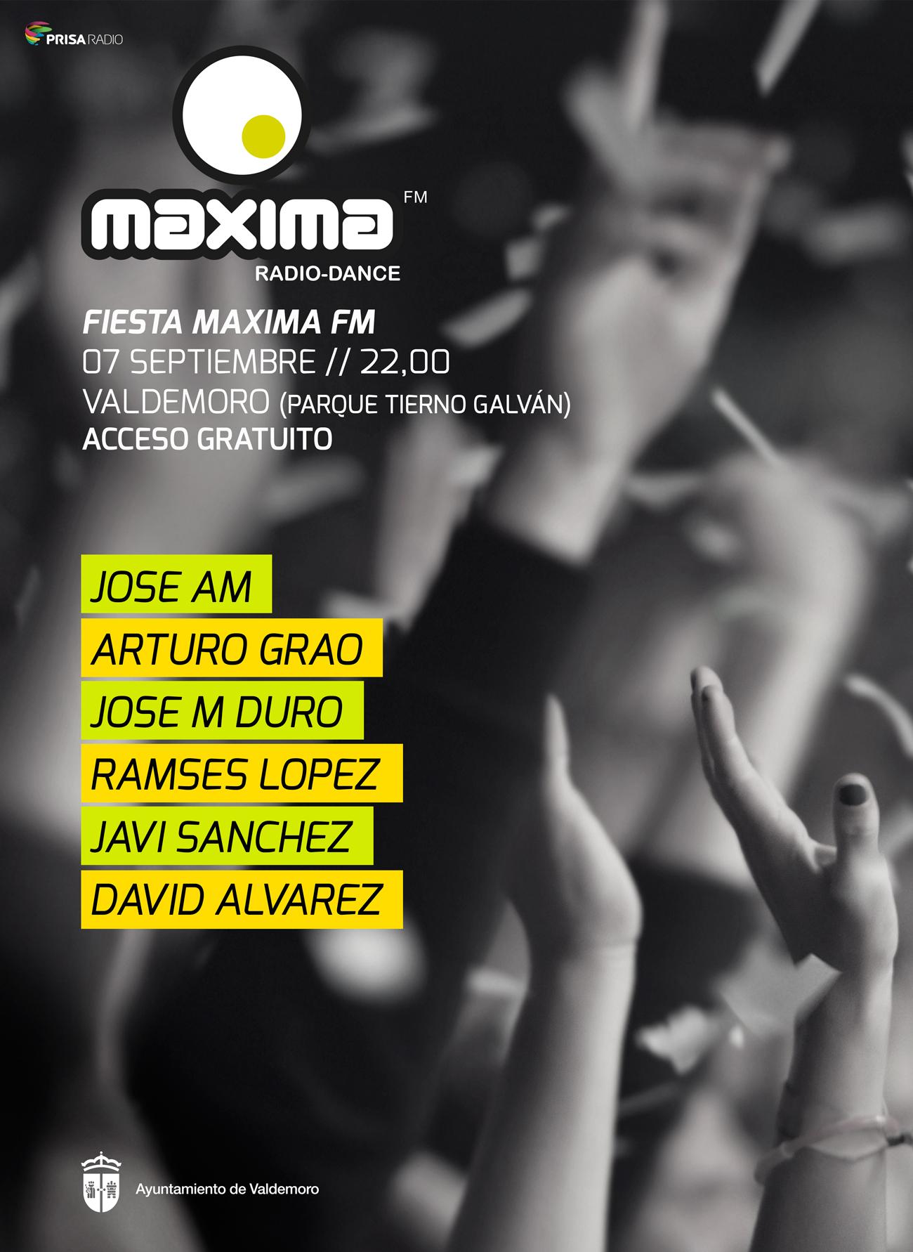 MaximaFM llenará de ritmo Valdemoro (Madrid) con un festival