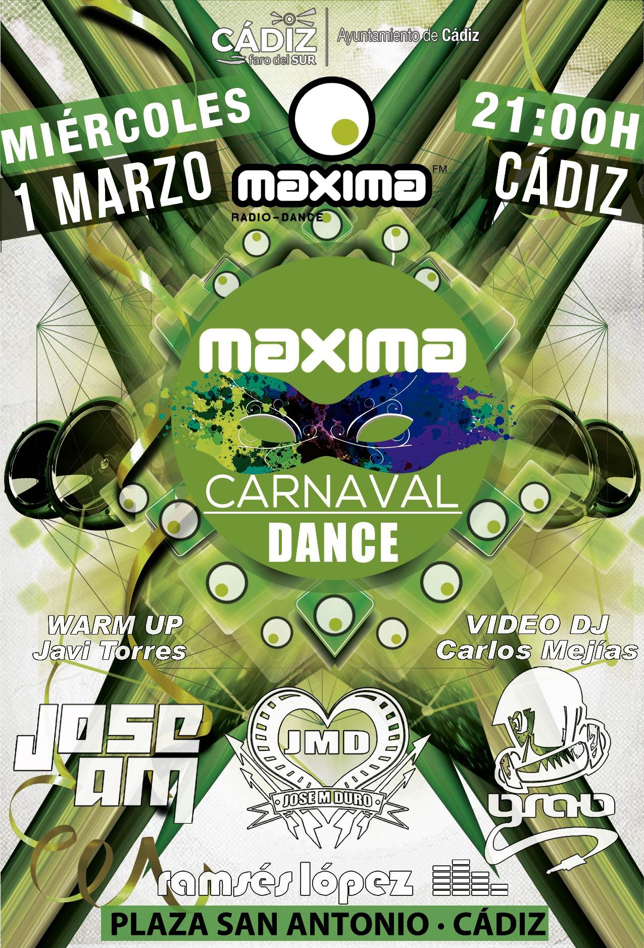El Carnaval de Cádiz 2017 al ritmo de MaximaFM
