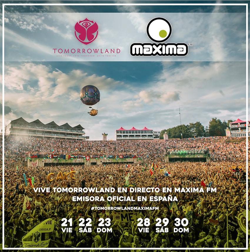 Maxima Fm retransmitirá los 2 fines de semana de Tomorrowland 2017
