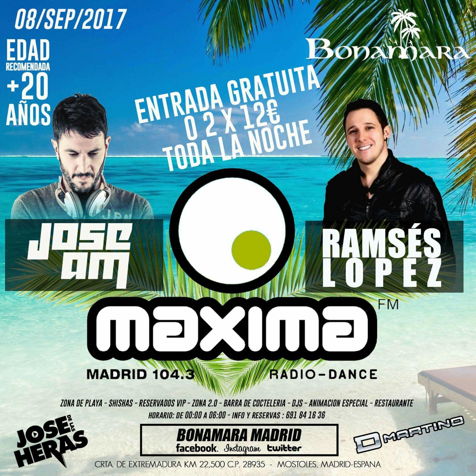 El viernes... ¡Fiesta de MaximaFM gratuita en Bonamara Madrid!