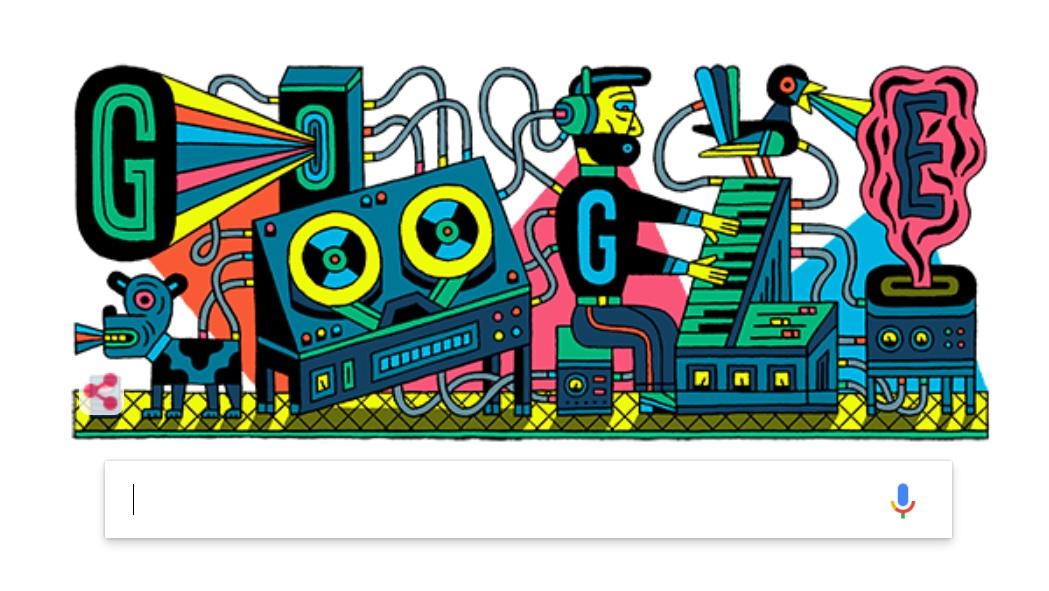 El doodle de Google, dedicado a la música electrónica